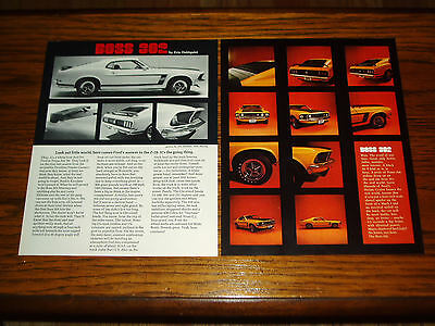 1969 FORD MUSTANG BOSS 302 article/pics/poster-351/429/v8 engine/GT/exhaust/hood