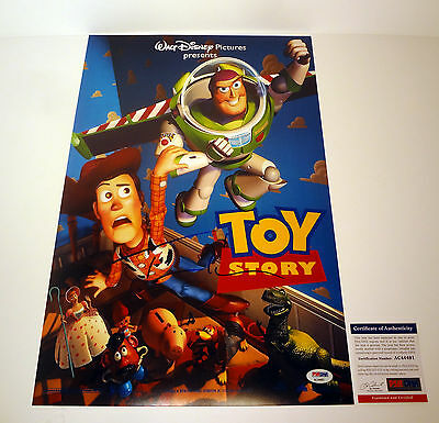 Tom Hanks Woody Signed Autograph Toy Story Movie Poster Psa/dna Coa