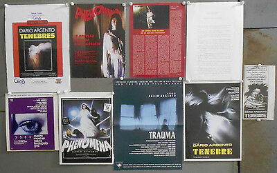 G7069 Dario Argento 8 Clippings Scrapbook From Magazines / Newspapers