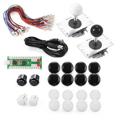 Zero Delay Arcade Game USB Encoder PC Joystick Set MAME Sanwa Push Button AC491