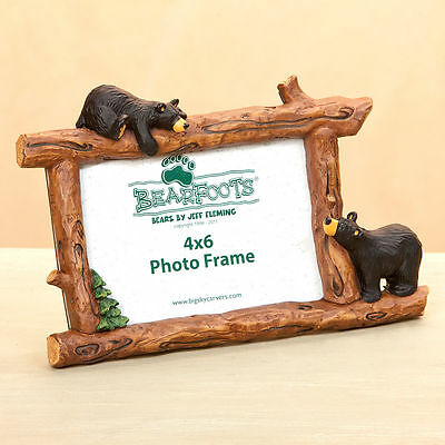 NEW IN BOX BEARFOOTS BEAR  BY JEFF FLEMING - Woodsey Bears 4X6 Horizontal Frame