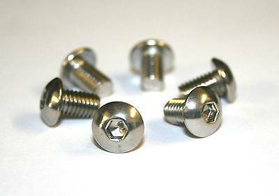 6x Bicycle Mountain Bike Disc Brake Rotor Bolts Screws M5 x 10mm Stainless Steel