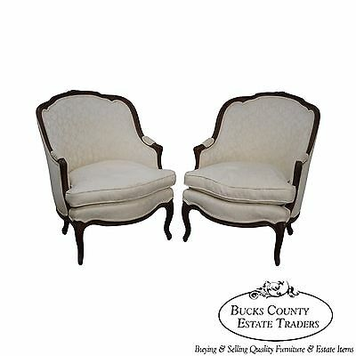Antique Pair of French Louis XV Style Bergere Chairs