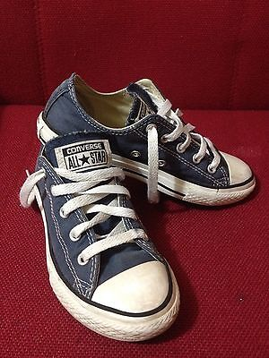 Converse All Star Colour Blue vintage Youths Size 13 Uk,31.5 Eur,19cm Trainers