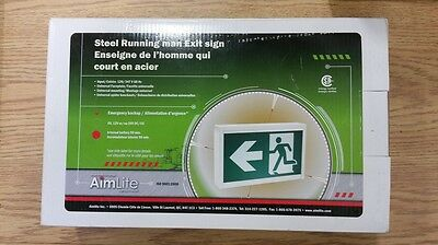 Steel Running Man Exit Sign W/ Emergency Battery Backup