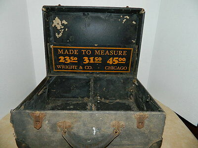 Vintage Wooden Chest/Trunk WRIGHT & CO.