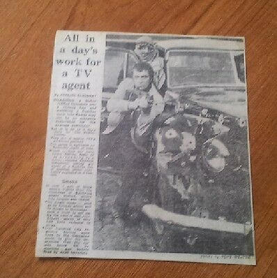 1978 Lewis Collins Bodie Professionals Filming Blind Run Ep Newspaper Article