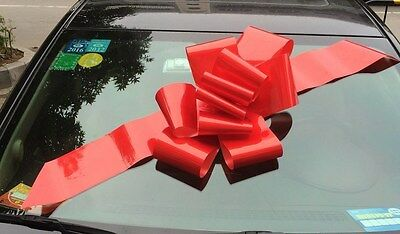 "Giant 23"" Red Car Gift Bow w/ suction cup - Christmas, Birthday, Sweet Sixteen,"
