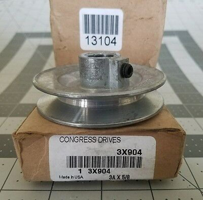 "Congress Drives Pulleys 3A X 5/8"" Bore 3X904"