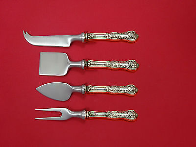 Kings by Wallace Sterling Silver Cheese Serving Set 4 Piece HHWS  Custom