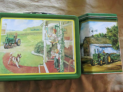 John Deere Lunch Box and Collectible Collectable Tin Set