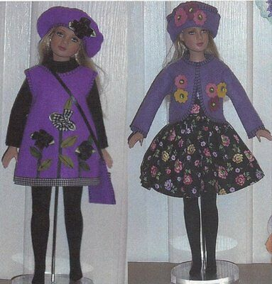 """Doll clothes Dress Pattern fits 12"""" 14""""  Tonner Dreary Agnes Marley Wentworth"""