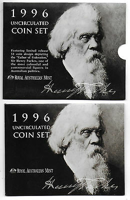 Royal Australian Mint 1996 Uncirculated Six Coin Set #1 - Free Postage