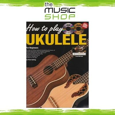 New Progressive How to Play Ukulele Music Tuition Book with CD & DVD