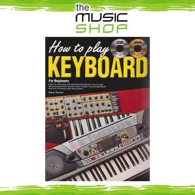 New Progressive How to Play Keyboard Music Tuition Book with CD & DVD