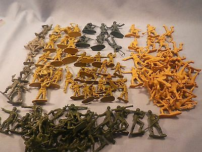 Plastic Toy Soldiers Assorted Lot Different Scales and Makers Huge Lot