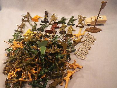 Assorted Plastic Toy Soldiers Lot Accessories Huge Lot