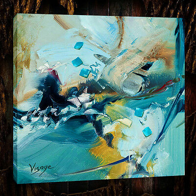 """Oil Painting Print On Canvas Modern Art Abstract, color, 20""""x20"""""""