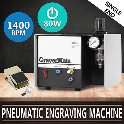 Pneumatic Engraver Machine Jewelry Engraving Rotary Handle Foot Pedal Control