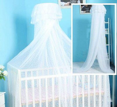 Baby Toddler Bed Dome Cots Mosquito Netting Hanging Dome Bed Mosquito Net White