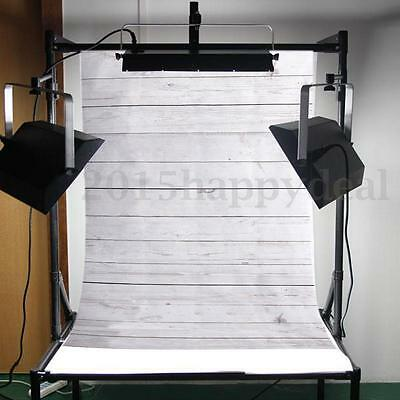 3x5FT Wooden Block Wall Vinyl Coth Studio Props Backdrop Photography Background