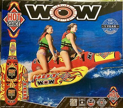 WOW Water Sports 1-2 Person Hot Sauce Towable with Custom-Shaped Pontoons