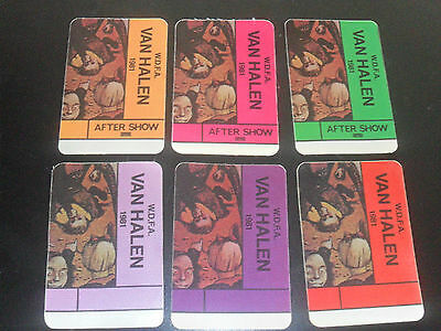 Van Halen Backstage Passes Fair Warning 1981 Set of 6 UN-USED OTTO Printing RARE