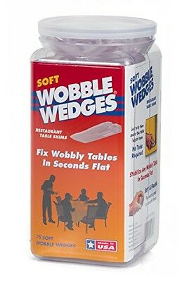 Wobble Wedges Wobble Wedge - Soft Clear - Restaurant Table Shims - 75 pc