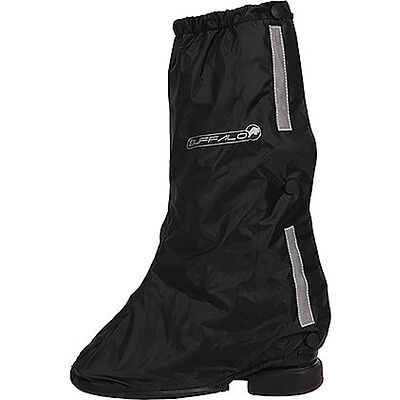 Buffalo Nucleus Black Moto Motorcycle PU Backed Polyester Overboots | All Sizes