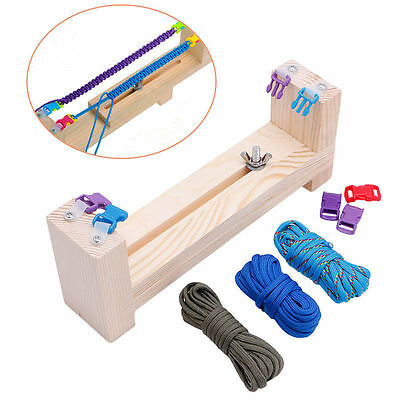 DIY Paracord Knot Bracelet Wristband Maker Jig Solid Wood Braided Rope Cord Tool