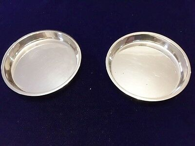 Pair sterling silver Pin - Coin Dishes - J B L & S - Birmingham - 1939