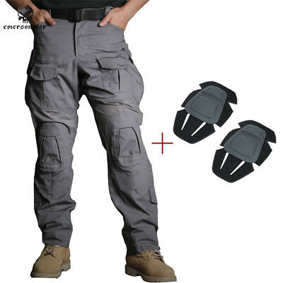 Emerson Tactical G3 Combat Pants w/ Knee Pads Hunting Trousers Paintball Gray