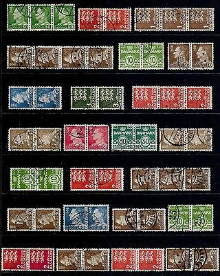 DENMARK - mixed collection, joined pairs & strips No.18