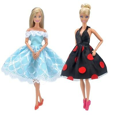 E-TING Fashion Party Min Dress Short Skirt Doll Clothes Accessories For Barbie K