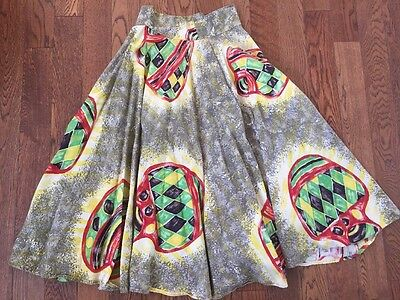 Vintage 40's/ 50's Mexican Circle Skirt