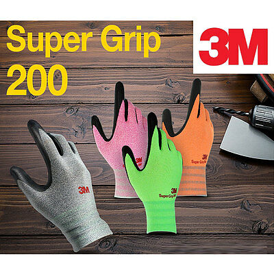 3M Super Nitrile Foam Coating Work Glove Compatible with all touch screen