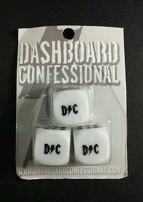 Lot Of 3Pcs In 1 Pack Dashboard Confessional D/c B&w Game Music Dice