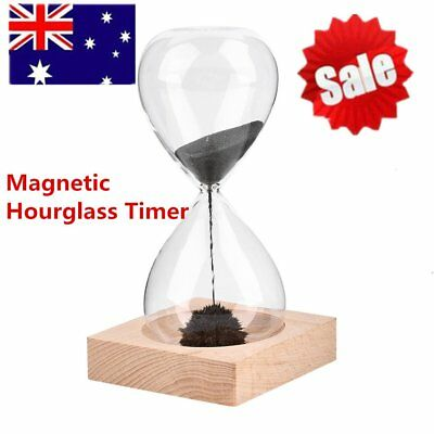 Home Magnetic Timer Sand Hourglass Desktop Iron Fillings Decoration Gadget AU