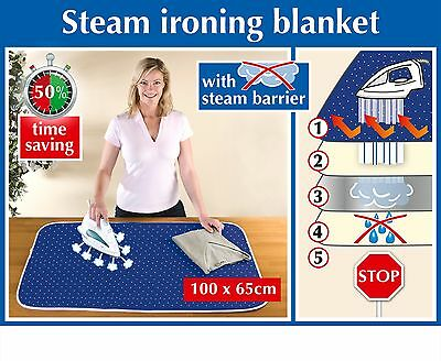 Wenko Extra Thick Steam Reflecting Ironing Table Top Blanket Anti Slip Uk Stock