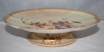 """Royal Worcester - Blush Ivory - 9 1/2"""" Comport/Cake Stand - 1891"""