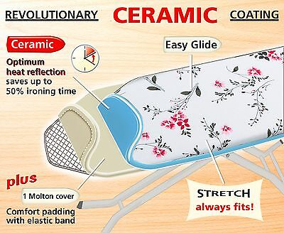 Wenko Easy Glide Steam Reflecting Ceramic Ironing Board Cover Universal Size Uk