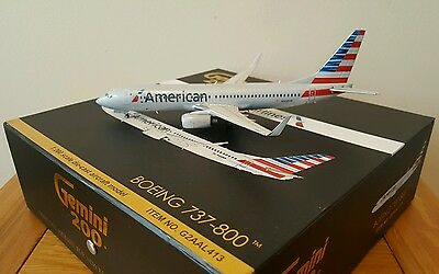1:200 American Airlines Boeing 737-800 First Release Diecast Model by Gemini200