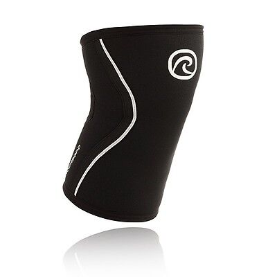 NEW CrossFIT Knee Support Rehband 105406-03 Rx Black/Silver Weightlifting | 7mm