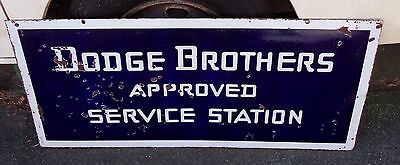 Original Dodge Brothers Approved Service Station Enamel Sign Double Sided