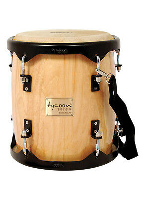 """Tycoon Percussion -  11"""" Tambora - Natural with Powder Coated Hardware w/Strap"""