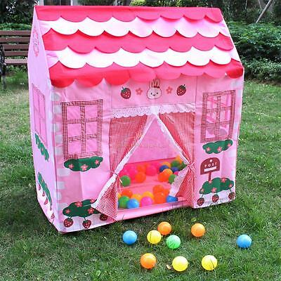 Large Foldable Kids Toy House Pop Up Play Tent Ball Pit Play Game Pool Xmas Gift