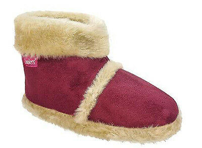 Girls Coolers Slipper Boots Micro-Suede Synthetic Fur Lining Fuchsia Size 12-13