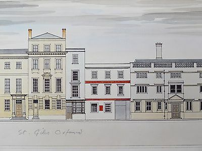 A Pair of Limited Edition watercolour illustrations 'Oxford' by A L Arschavir