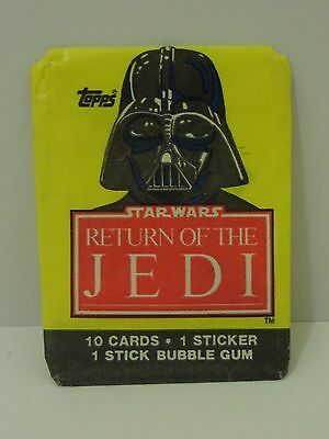 "Topps 1983 Star Wars "" Return of the Jedi"" Card Wrapper Darth Vader"