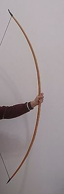 """FLAGELLA DEI YEW MADE TRADITIONAL ENGLISH """"D"""" LONGBOW 74"""" 40 lbs READY TO SHIP"""